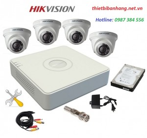 Trọn bộ 4 camera HIKVISION 1MB
