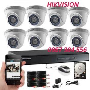 Trọn bộ 8 camera HIKVISION 1MB