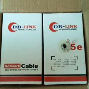 Cable Cat5e DB-LINK Đồng Xịn ( Lõi Chuẩn 0.5 Test Chuẩn Fluke PVC ) Cuộn 305m