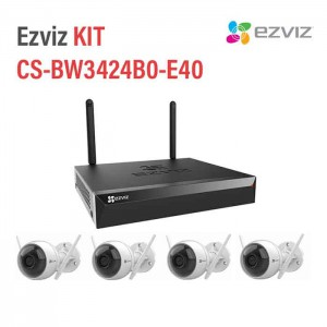Bộ Kit 4 Camera Wifi 2MP EZVIZ CS-BW3424B0-E40