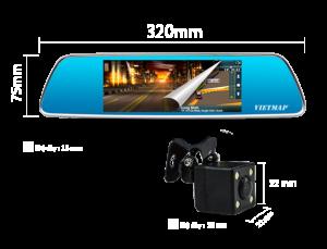 Camera hành trình gương vietmap ivrd P1